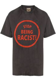 short-sleeved slogan print T-shirt