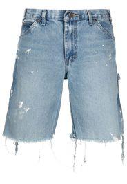 GALLERY DEPT. Shorts denim con effetto vissuto - Blu