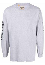 GALLERY DEPT. logo-print long-sleeved T-shirt - Grigio