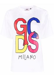 Gcds logo print T-shirt - Bianco