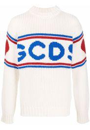 Gcds logo-print knitted jumper - Bianco