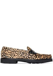Multicoloured Weejun 90 Larson cheetah print pony skin loafers