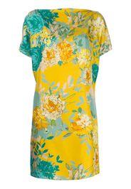 floral-print silk dress