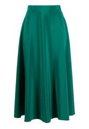 Gianluca Capannolo satin mid-length skirt - Verde