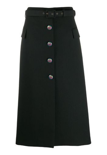 mid-length skirt with blazon buttons