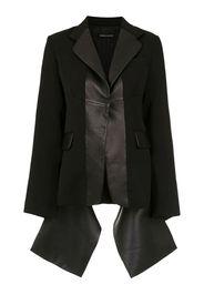 leather panelled blazer