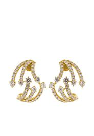 18kt yellow gold diamond Cage earrings