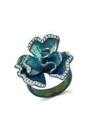 graziela diamond flower ring - Argento