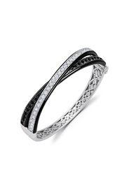 graziela 18kt white gold double diamond bangle - Argento
