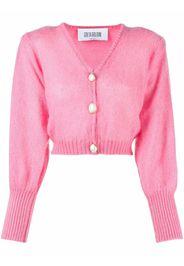 GRETA BOLDINI puff-sleeve cardigan - Rosa