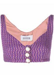 GRETA BOLDINI front-buttoned cropped vest - Viola