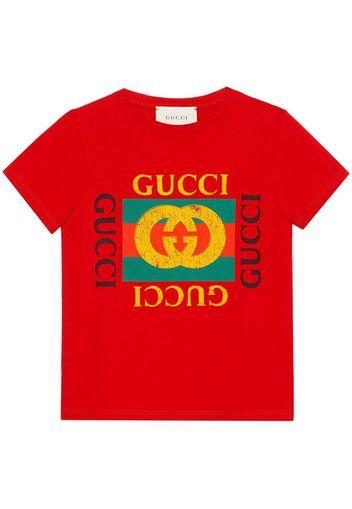 T-shirt con logo vintage Gucci