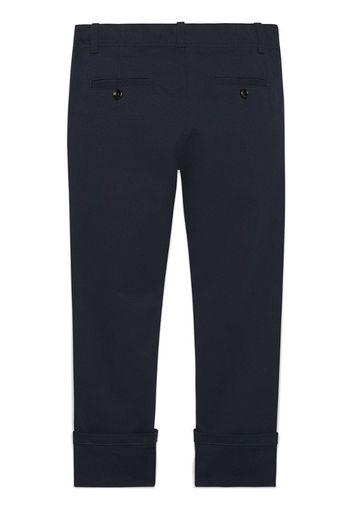 Pantaloni in gabardina con dettaglio web