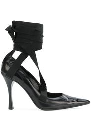 ankle wrapped pumps