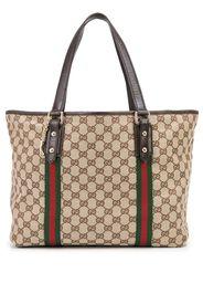 Gucci Pre-Owned GG Supreme large Jolicoeur tote bag - Marrone