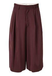 Pantaloni crop plissettati