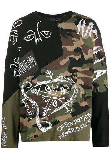scribble embellished sweatshirt