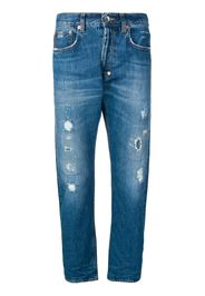 Jeans taglio straight effetto vissuto