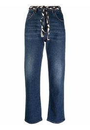 Haikure high-waisted straight leg jeans - Blu