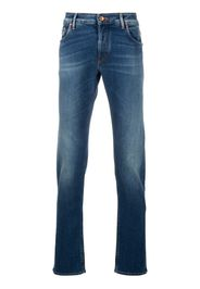 straight leg light-wash jeans