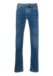 mid-rise straight leg jeans