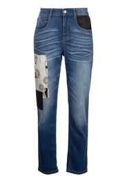 Hellessy patchwork cropped jeans - Blu