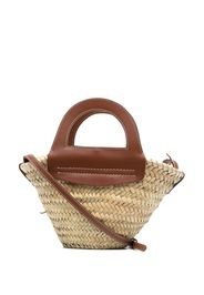 Hereu small straw tote bag - Toni neutri