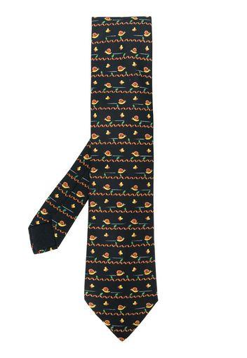 Cravatta con stampa anni 2000