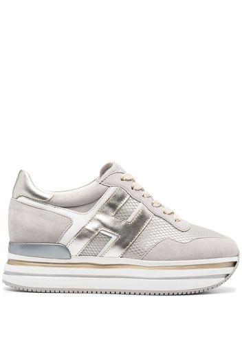 Hogan, Hogan Sneakers Maxi H222 - Grigio | Edifactory