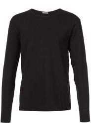 raw hem long sleeve T-shirt