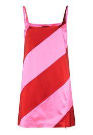striped satin mini dress
