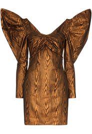 midi-dress with volume sleeves