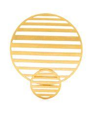 Hsu Jewellery Orecchini Flowing Pattern - Oro