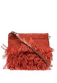 IBELIV tasseled woven shoulder bag - Arancione