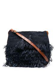 IBELIV tasseled woven shoulder bag - Blu