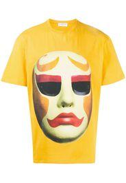 mask-print T-shirt