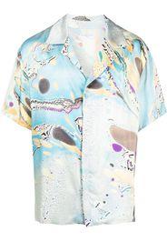 Ih Nom Uh Nit graphic-print short-sleeved shirt - Blu