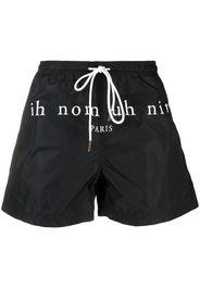 Ih Nom Uh Nit logo-print swim shorts - Nero