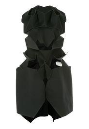 geometric cut-detail dress
