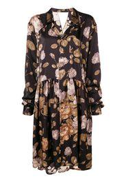 floral oversized shirt dress