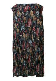 floral crepe long skirt