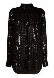 Junya Watanabe sequin long-sleeve shirt - Nero