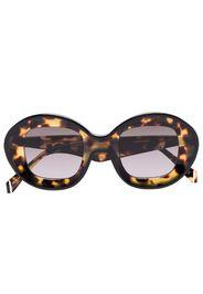 Arcos round-frame tortoiseshell sunglasses