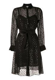 LEOPARD JACQUARD SHIRT DRESS