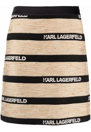 Karl Lagerfeld Gonna con effetto jacquard - Nero