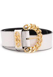 crocodile-effect chain-buckle belt