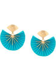 24kt gold-plated brass fan earrings