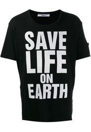 printed 'save life on earth' T-shirt