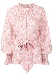 Keepsake The Label Blaze floral-print ruffle-trimmed shirt - Rosa