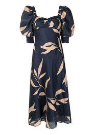 Keepsake The Label botanical-print wool dress - Blu